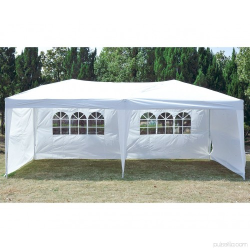 Pop-Up Canopy Tent With Sidewalls 10' x 20' Outdoor Party