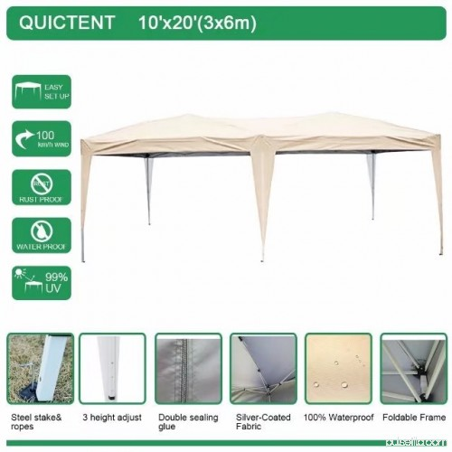 Quictent 10x20 ft Pop Up Canopy Party tent Camping tent