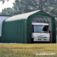 15' x 24' x 12' Peak Style Shelter, Green   554798184