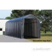 16' x 44' x 16' Peak Style Shelter, Green   554798242
