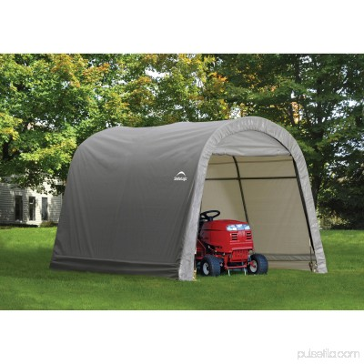 Shed-in-a-Box 10' x 10' x 8' RoundTop Storage Shed, Gray 554795667