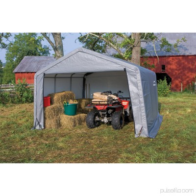 Shed-in-a-Box 12' x 12' x 8' Peak Style Storage Shed, Gray 554795683