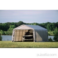 Shelterlogic 12' x 28' x 8' Peak Style Shelter, Green   554796599