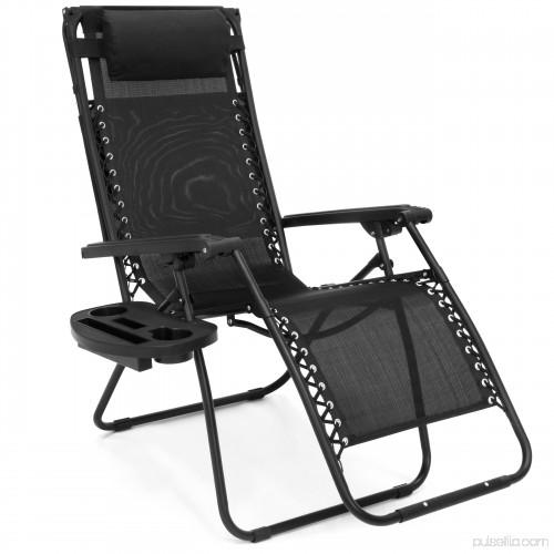 BCP Folding Zero Gravity Lounge Chair W/ Canopy U0026 Magazine Cup Holder