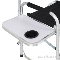 Best Choice Products BCP Aluminum Folding Picnic Camping Chair W/ Table Tray Cup Holder Director Seat
