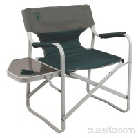 Coleman Outpost Breeze Portable Folding Deck Chair with Side Table   553644508