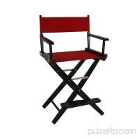 Extra-Wide Premium 24 Directors Chair Natural Frame W/Black Color Cover 563751561