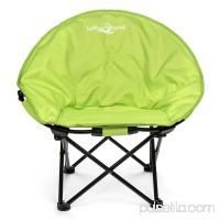 Lucky Bums Moon Camp Kids Adult Indoor Outdoor Comfort Lightweight Durable Chair with Carrying Case, Blue, Large   568935380