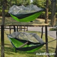 2 Person Travel Outdoor Camping Tent Ultralight Hanging Hammock Bed With Mosquito Net Portable Parachute Cloth Hammock, Army Green   569951638