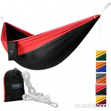 Yes4All Lightweight Double Camping Hammock with Carry Bag (Orange/Grey) 566638938