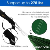 Yes4All Single Lightweight Camping Hammock with Strap & Carry Bag (Green/Blue)   566637929