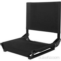 Stadium Bleacher Seats Folding Portable Stadium Bleacher Cushion Chair Durable Padded Seat With Back,Black   570768557