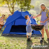 Camping Hiking Dome Tent for 3-Person Automatic Instant Setup Dual Layer with Shelter BYE