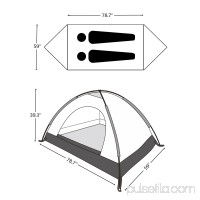ODOLAND 2 Person Camping Tent Waterproof Lightweight Tent for Camping Traveling Hiking with Carry Bag   565199410