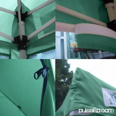 Quictent 10x10 Ez Pop up Canopy with Netting Screen House Instant Gazebo Party Tent Mesh Sides Walls With Carry BAG Tan