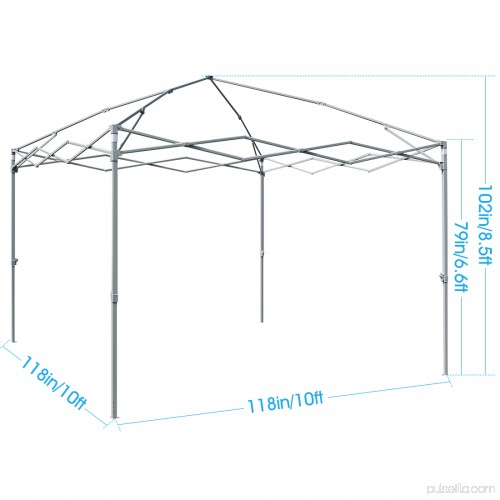 Quictent Privacy 10x10 EZ Pop Up Canopy Tent Instant Gazebo Party Tent 100% Waterproof With ...  sc 1 th 225 & Quictent Privacy 10x10 EZ Pop Up Canopy Tent Instant Gazebo Party ...