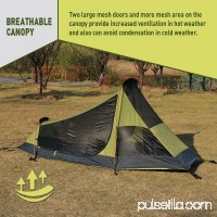 WEANAS 3-4 Backpacking Tent Double Layer Large Space for Outdoor Camping LimeGreen