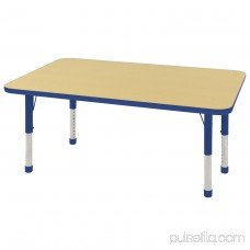 ECR4Kids 30 x 48 Rectangle Everyday T-Mold Adjustable Activity Table, Multiple Colors/Types 565360487