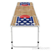 Zaap 8ft Tournament Size Folding Beer Pong/Picnic/Camping Table-Basketball Court
