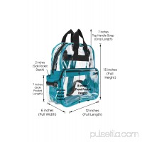 DALIX Small Clear Backpack Transparent PVC Security Security School Bag in Navy Blue
