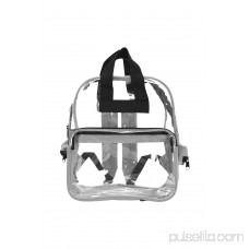 DALIX Small Clear Backpack Transparent PVC Security Security School Bag in White