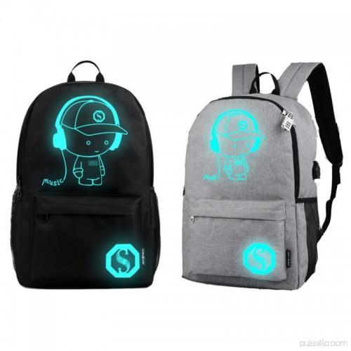 ENJOY USB Charge Cool Boys School Backpack Luminous School