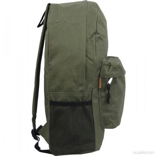 e4f2bcfe5269 K-Cliffs Backpack 18 inch Padded Back School Day Pack Classic Book Bag Mesh Pocket  Black 564860566
