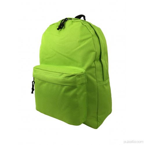 K-Cliffs Backpack Classic School Bag Basic Daypack Simple Book Bag 16 Inch  F. Green 564847910 e2ad0ccfd6126