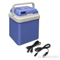 ALEKO CARFR24BL Portable Car Fridge Travel Cooler Warmer 12V 24 Liter Capacity, Light Blue Color   563034662