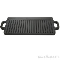 Ozark Trail Small Cast Iron Reversible Griddle, Pre-Seasoned   556325463