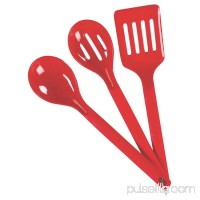 Coleman 3-Piece Nylon Serving Set, Red, Plastic   570416761