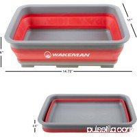 Wakeman 10L Collapsible Portable Camping Wash Basin 550646431