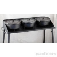 Camp Chef 3-Sided Heavy Duty Steel Dutch Oven Table   550382374