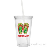 Personalized Flip Flop Tumbler, Available in Green or Red   562897314