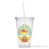 Personalized Retro Beach Tumbler - Flip Flops   567298920