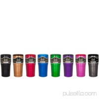 Silver Buffalo Stainless Steel Insulated Tumbler, 20 oz., Ombre Black 563036722