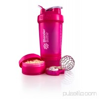 BlenderBottle 22oz ProStak Shaker with 2 Jars, a Wire Whisk BlenderBall and Carrying Loop FC Black 553888594