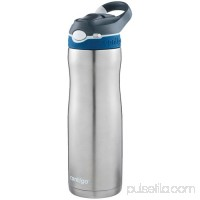 Contigo AUTOSPOUT Straw Ashland Chill Stainless Steel Water Bottle, 20 oz., SS Very Berry   568932620