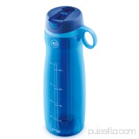 Pogo BPA-Free Plastic Water Bottle with Flip Straw   556107633