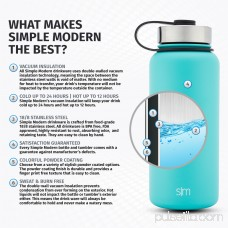 Simple Modern 22oz Summit Water Bottle + Extra Lid - Vacuum Insulated Double Wall Swell Hot Tea Cup 18/8 Stainless Steel Flask - Orange Hydro Travel Mug - Autumn 567924985