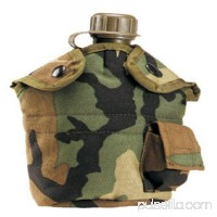 Woodland Camouflage G.I. Type Enhanced Nylon 1Qt. Canteen Cover