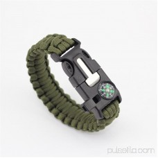 Paracord Survival Bracelet Compass/Flint/Fire Starter/Whistle Camping Gear/Kit (Army Camo)