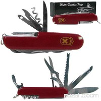 Whetstone 13 Function Swiss Type Army Knife, Red 563268837