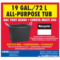 19 Gallon Rectangular Rope Handle Tub 550004964