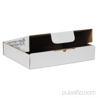 Duck Self-Locking Mailing Box, 11.5 in. x 8.75 in. x 2.1 in., White, 25-Count