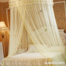 Dome Bed Net Mosquito Netting Luxury Breathable Quick Easy Installation Hanging Round Bed Canopy Princess Mosquito Net Romantic Lace Decorative Net for Kids Girls Bedroom Home Outdoor