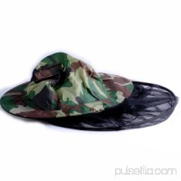 Urparcel Camouflage Mosquito Bug Insect Net Bee Mesh Head Face Protect Fishing Hat Hunting Camping
