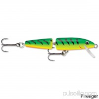 "Rapala Jointed Lure Size 07, 2 3/4"" Length, 4'-6' Depth, 2 Number 8 Treble Hooks, Blue, Per 1   555613257"
