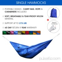 Yes4All Single Lightweight Camping Hammock with Carry Bag (Green/Blue)   566639193