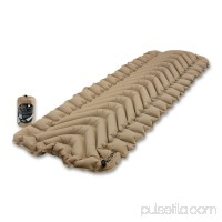Klymit Static V Recon Inflatable Sleeping Pad, Sand + Inflatable Pillow, Teal